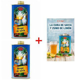 Pack de 2 Sirope de Savia Madal Bal + Libro - 1000 ml.