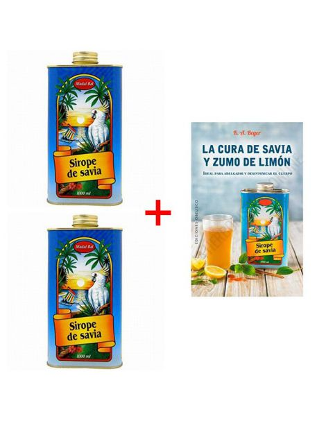 Pack de 2 Sirope de Savia Neera Madal Bal + Libro - 1000 ml.