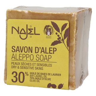 Jabón de Alepo 30% Najel - pastilla de 200 gramos