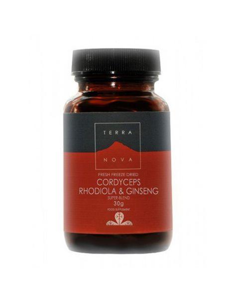 Cordiceps, Rhodiola y Ginseng Terranova - 30 gramos
