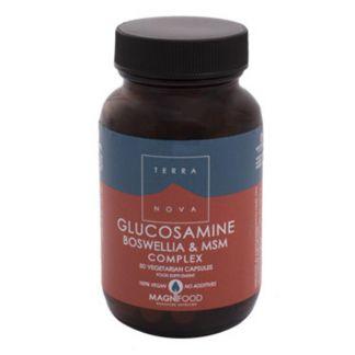 Glucosamina, Boswelia y MSM Complex Terranova - 50 cápsulas