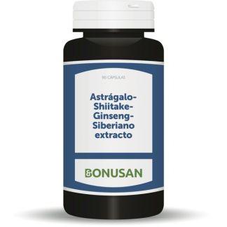 Astragalo, Shiitake y Ginseng Siberiano Extracto Bonusan - 90 cápsulas