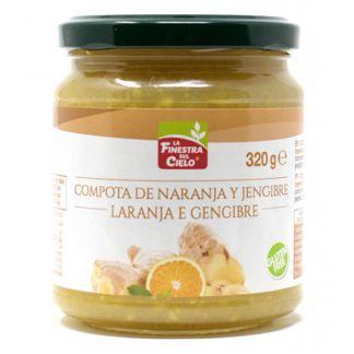 Compota de Naranja y Jengibre La Finestra Sul Cielo - 320 gramos