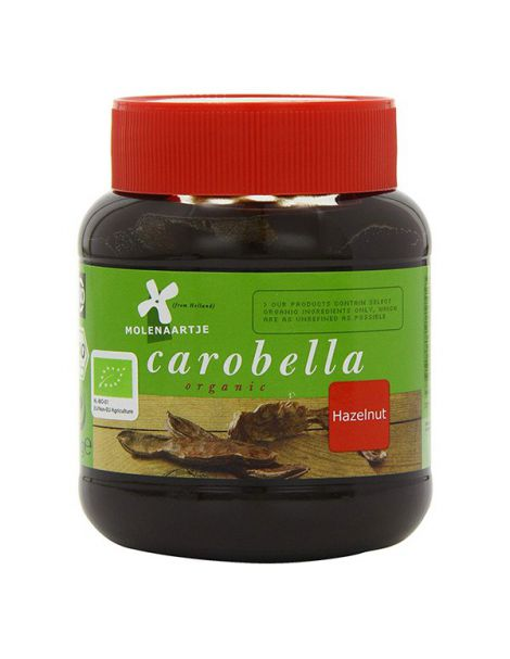 Crema Carobella de Algarroba y Avellanas MolenAartje - 350 gramos