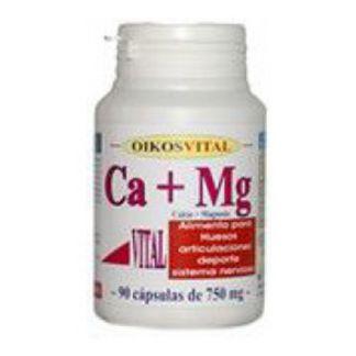 Calcio + Magnesio Vital Oikos - 90 cápsulas
