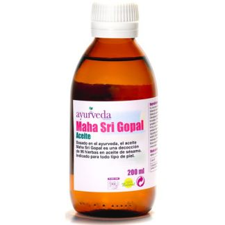 Aceite Maha Sri Gopal Ayurveda Auténtico - 200 ml.