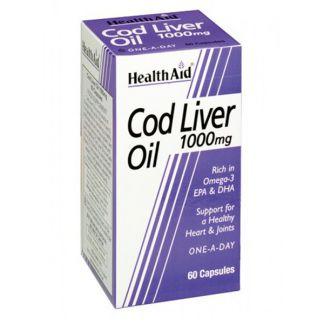 Aceite de Hígado de Bacalao Health Aid - 60 cápsulas