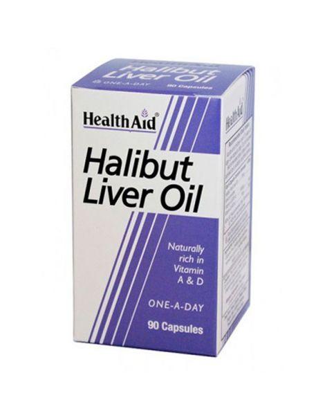 Aceite de Hígado de Halibut Health Aid - 90 cápsulas