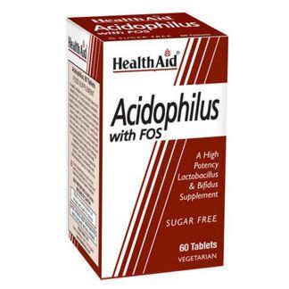 Acidophilus Mega Potenciy con FOS Health Aid - 60 comprimidos