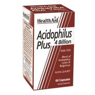 Acidophilus Plus 4 Billion Health Aid - 60 cápsulas