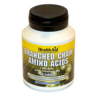 BCAA Branched Chain Amino Acids Health Aid - 60 comprimidos