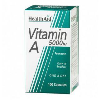 Vitamina A 5000 UI Health Aid - 100 cápsulas