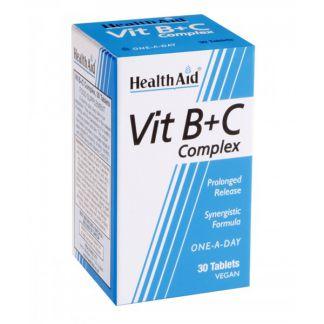 Complejo Vitamina B + C Health Aid - 30 comprimidos