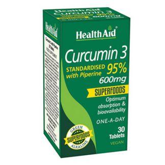Curcumín 3 Health Aid - 30 comprimidos