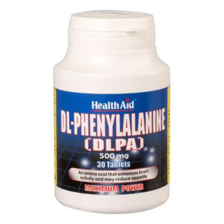 DLPA (DL-Phenylalanine) Health Aid - 30 comprimidos