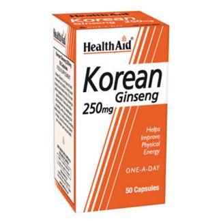 Ginseng Coreano Health Aid - 50 cápsulas