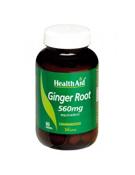 Jengibre (Ginger Root) Health Aid - 60 comprimidos