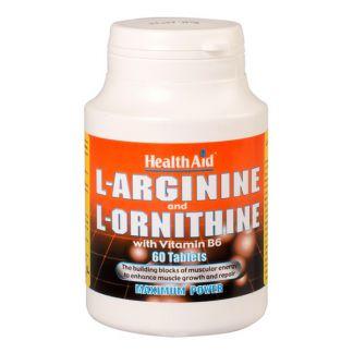 L-Arginina y L-Ornitine Health Aid - 60 comprimidos