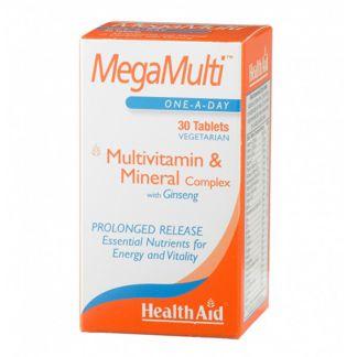 MegaMulti con Ginseng Health Aid - 30 comprimidos
