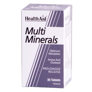Multiminerales Health Aid - 30 comprimidos