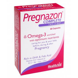 Pregnazon Complete Health Aid - 60 cápsulas