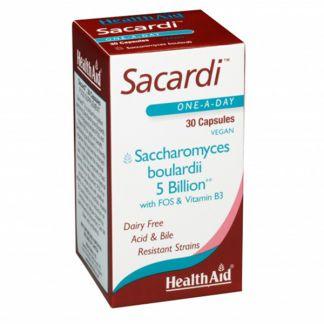 Sacardi (Saccharomyces Boulardii) Health Aid - 30 cápsulas