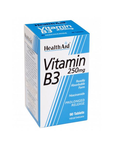 Vitamina B3 Niacinamida Health Aid - 90 comprimidos