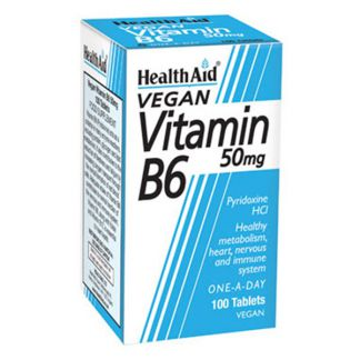 Vitamina B6 Health Aid - 100 comprimidos