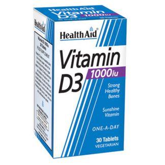 Vitamina D3 Health Aid - 30 comprimidos