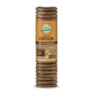 Galleta de Espelta con Chips de Chocolate Biocop - 250 gramos