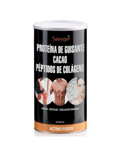 Proteína de Guisante con Cacao y Colágeno Active Foods Salengei - 500 gramos
