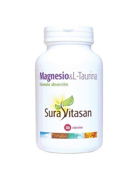 Magnesio & L-Taurina Sura Vitasan - 30 cápsulas