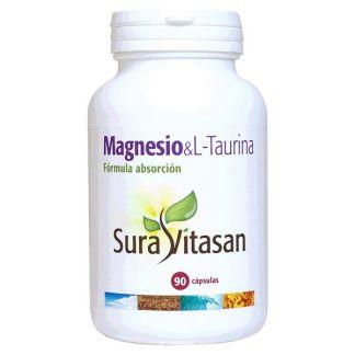 Magnesio & L-Taurina Sura Vitasan - 90 cápsulas