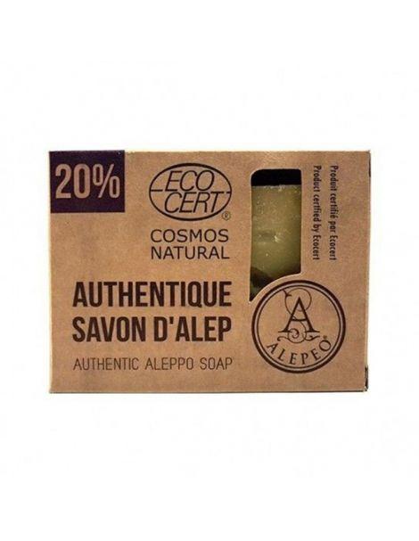 Jabón de Alepo 20% Ecocert Alepeo - pastilla de 200 gramos