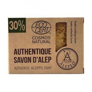 Jabón de Alepo 30% Ecocert Alepeo - pastilla de 200 gramos