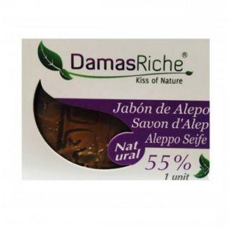 Jabón de Alepo 55% Ecoriche - pastilla de 200 gramos