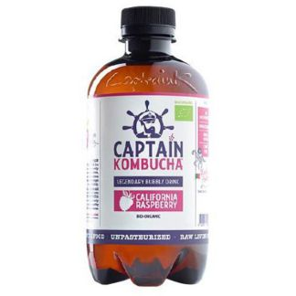 Bebida Kombucha Frambuesa Bio Captain Kombucha - 400 ml.