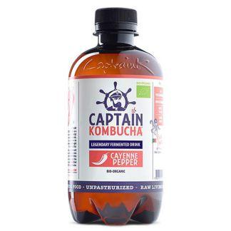 Bebida Kombucha Cayena Bio Captain Kombucha - 400 ml.