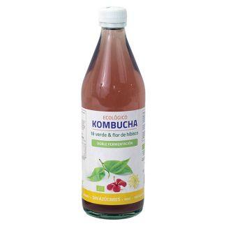 Bebida Kombucha Té Verde y Flor de Hibisco Eco Bioener - 500 ml.
