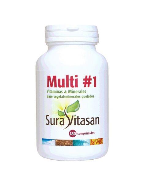 Multi 1 Vitaminas & Minerales Sura Vitasan - 180 comprimidos