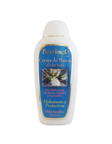 Crema de Manos de Aloe Vera y Plantas Medicinales Fleurymer - 200 ml.