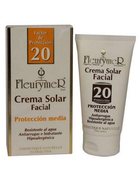 Crema Solar Facial SPF 20 Fleurymer - 80 ml.