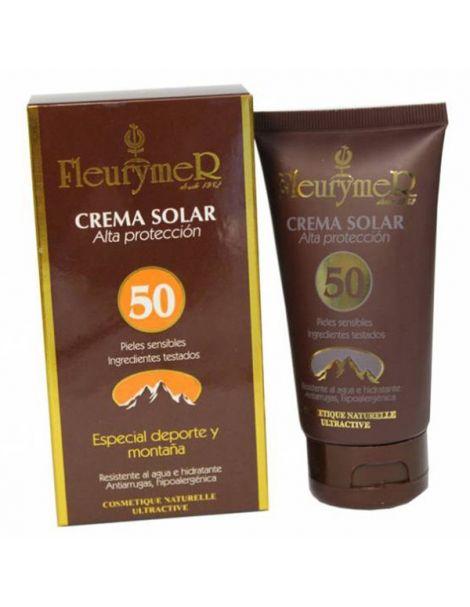 Crema Solar Facial SPF 50 Montaña Fleurymer - 80 ml.