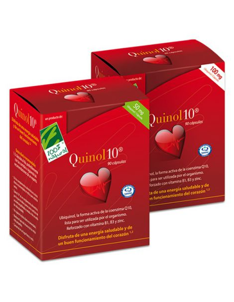 Quinol10 100 mg. Cien por Cien Natural - 90 perlas