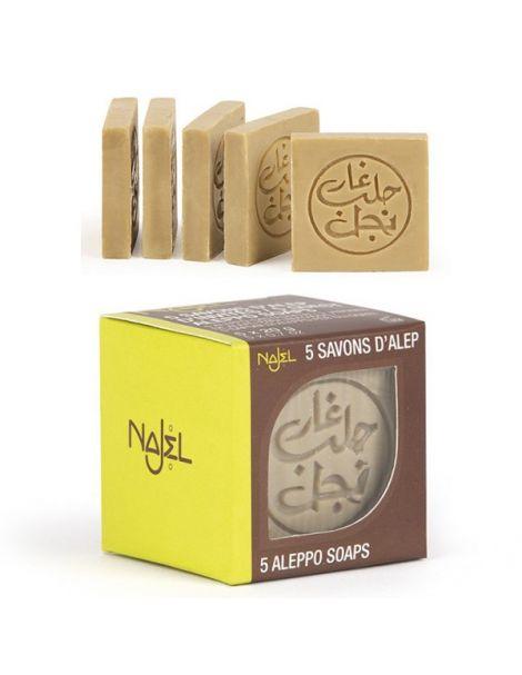 Jabón de Alepo Invitados Najel - 5 x 20 gramos