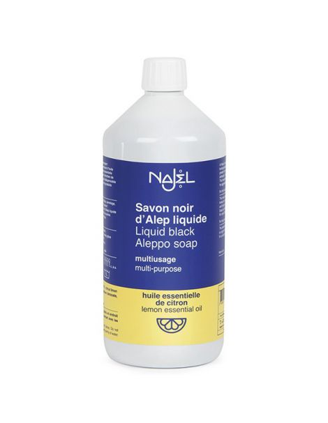 Jabón Negro de Alepo Líquido Multiusos Limón Najel - 1000 ml.