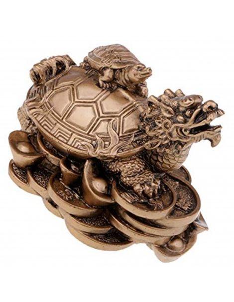 Tortuga con Cabeza de Dragón - 8x7 cm.