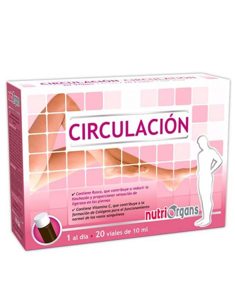 Nutriorgans Circulación Tongil - 20 viales