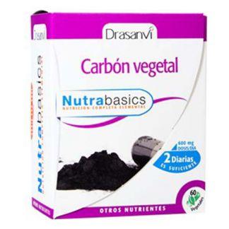 Nutrabasics Carbón Vegetal Drasanvi - 60 cápsulas