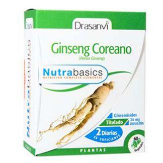 Nutrabasics Ginseng Coreano Drasanvi - 60 cápsulas